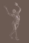 Sustained Gesture Drawing - Female Figure by wideturn
