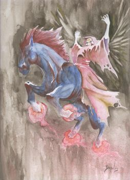 riding in a nightmare by mamelik