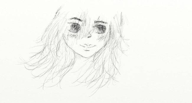 Nameless Woman Sketch by minism