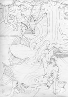 merman : cabin in the wood by seawaterwitch