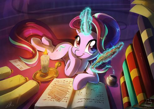 [Lumic4-Light] Starlight studying by Light262