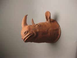 Terracotta Rhino by thesometimers