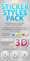 3D Sticker Styles by designercow