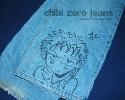 Chibi Zoro Jeans by airlobster