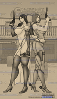 Olivia vs Jane - Old Timey Look by RBL-M1A2Tanker