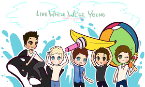 LIVE WHILE WE ARE YOUNG by Melancholy-Puppet