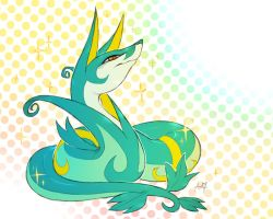 Shiny Serperior by Aishishi