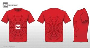 Red web T-Shirt by Gr33nlant3rn