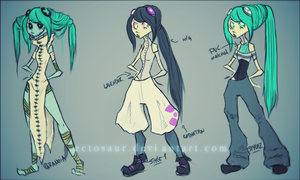 Visca's Outfits by ectosaur