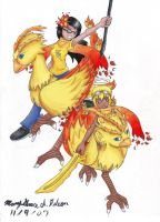 Chocobo Warriors by maichi-water