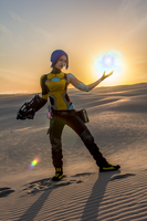 Sunset Phaselock - Maya - Borderlands 2 by Lithium-Toxide
