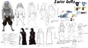 Zavier Quillz Character Sheet by J-Limit