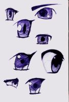 Eyes Sketches by SinSeaward