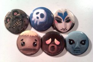 Majora's Mask Button Set by IamSare