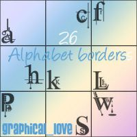 Alphabet borders and imagepack by lisaedson