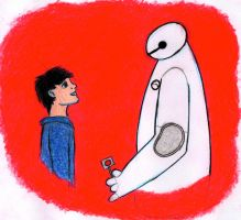 Hiro and Baymax by JakeNickleby