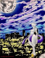 Mewtwo in the city by MuddyTiger