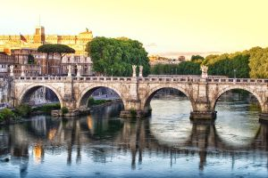 Sunset over the  Ponte Sant'Angelo by CitizenFresh