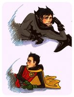 Detail: Dick and Damian by Shugahshak