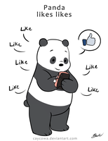 We Bare Bears - Panda likes likes by caycowa