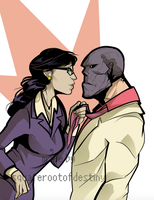 Black Mask and Ms. Li by squarerootofdestiny