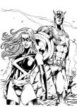 Ms. Marvel and Cap inks by BDStevens