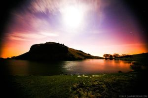 Arthurs Seat Under Moonlight by gdphotography
