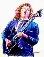 Angus Young by johnwickart