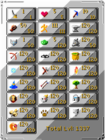 RuneScape - Skills Interface by Jlun2