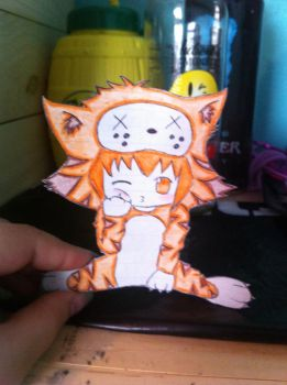 Tiger paper child by AhoyNekoChan