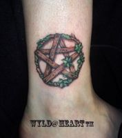 Pans' Pentacle Ankle Tattoo by phoenixbay