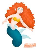 Merida as a Mermaid. by WinterTalesS