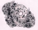 Sugarskull black by Kirzten