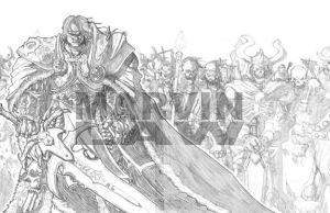 Arthas and his undead army... by Marvin000