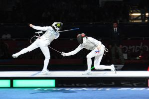 Olympic Women's Team Foil Fencing IV by aragornsgirl333