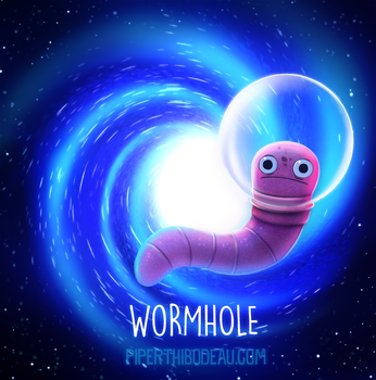 Daily Paint 1556. Wormhole by Cryptid-Creations