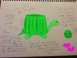 Jelly-cup turtles :3 by SweetCatMint