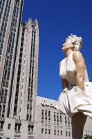 Marilyn over Chicago 1 by NamekAngelIvy