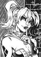 Harley Quinn Sketch Card by broken-nib