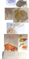 animal life drawings by Worm-love