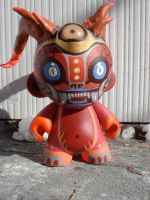 Custom demon monkey Munny 4' by missmonster