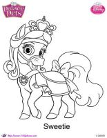 Princess Palace Pets Sweetie coloring Page by SKGaleana