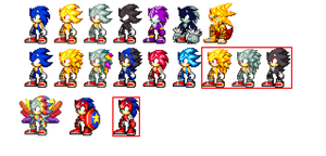 Sonic Form Sprites: Canon and Fanon by Des-the-Dragon