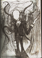 .:SchoolTimeSketch:. The Slenderman by TiegerKaetzchen