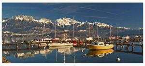 annecy lake panorama by bracketting94