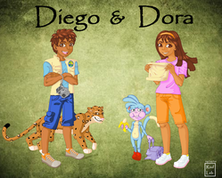Diego and Dora by rodleb2