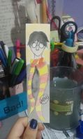 Little Harry Potter Watercolor by hidingmymess