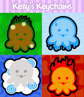 Elemental Octopus Stickers by egyptianruin