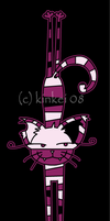 Stretchy Cheshire cat by kinkei