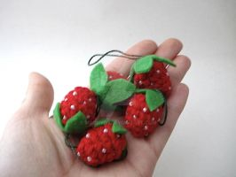 Strawberry Ornaments by MoonYen